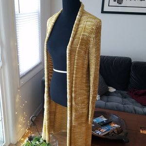 Anthropologie Abigail Marled Knit Duster